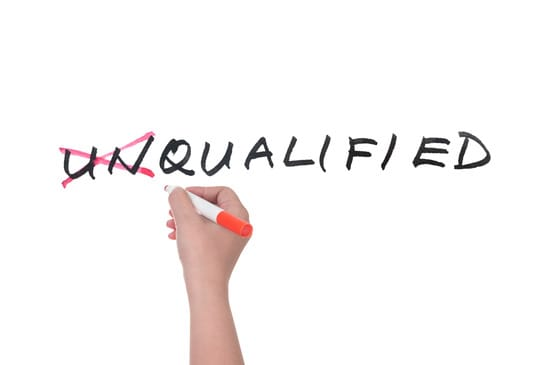 Unqualified to qualified
