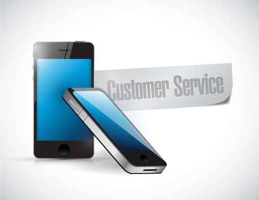 customer service phone message illustration