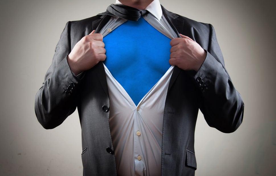 Callproof Businessman super hero