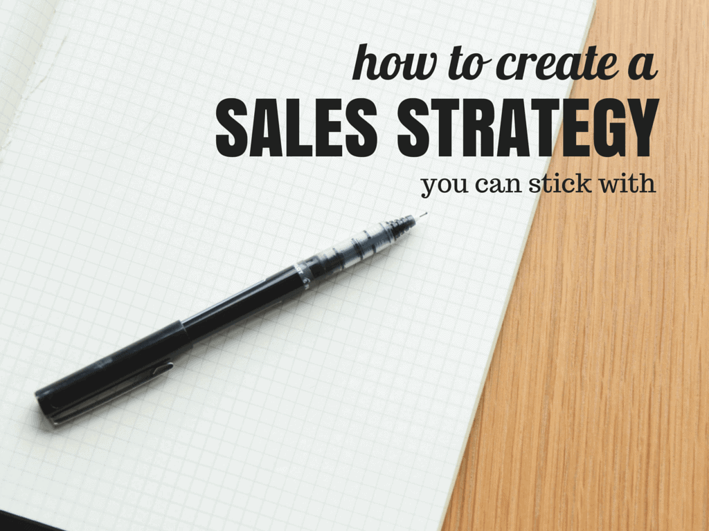 create a sales strategy