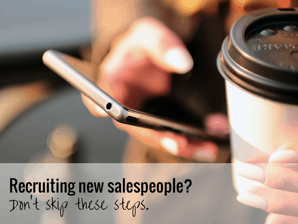 recruiting new salespeople