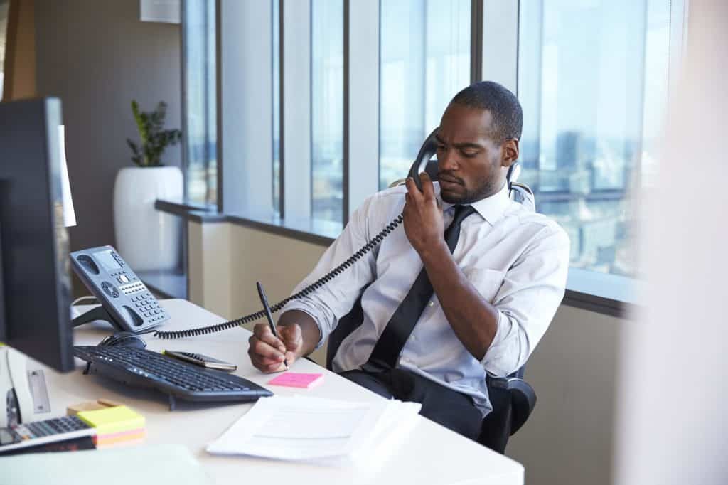 make a sales follow up call