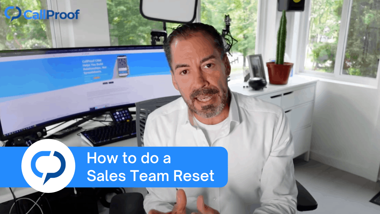 How to do a Sales Team Reset